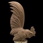 Model for an Automobile Mascot, Paperweight, or Bookend, Coq nain (Bantam rooster), cast plaster, paint. René Lalique (French, 1860–1945). France, Combs-la-Ville or Wingen-sur-Moder, 1928. H. 20.1 cm, W. 14.4 cm, D. 6.6 cm.
