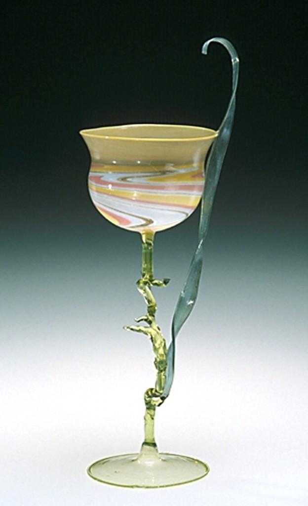Goblet in Form of Flower, Possibly Karl Köpping (designer, German 1848-1914); probably Friedrich Zitzmann (maker, German, 1840-1906). Berlin, Germany, About 1900-1910. (61.3.123)