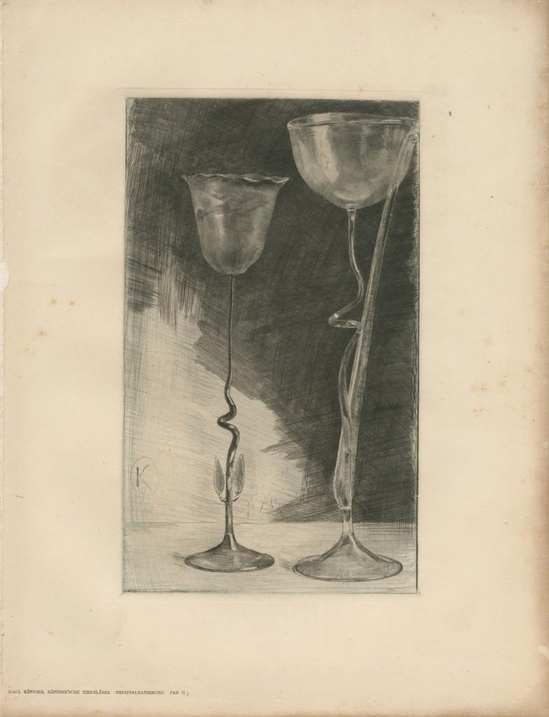 Köpping'sche ziergläser (Köpping's flowering glasses), Karl Köpping (1848-1914), Berlin, Germany, published in Pan, 1896. CMGL 122932.