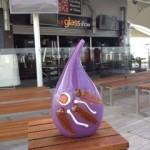 Glass vase inspired by Lisbon
