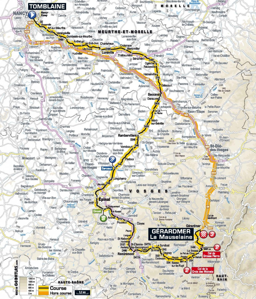 Stage 8 of the Tour de France. Find an interactive map at http://www.letour.com/le-tour/2014/us/stage-8.html