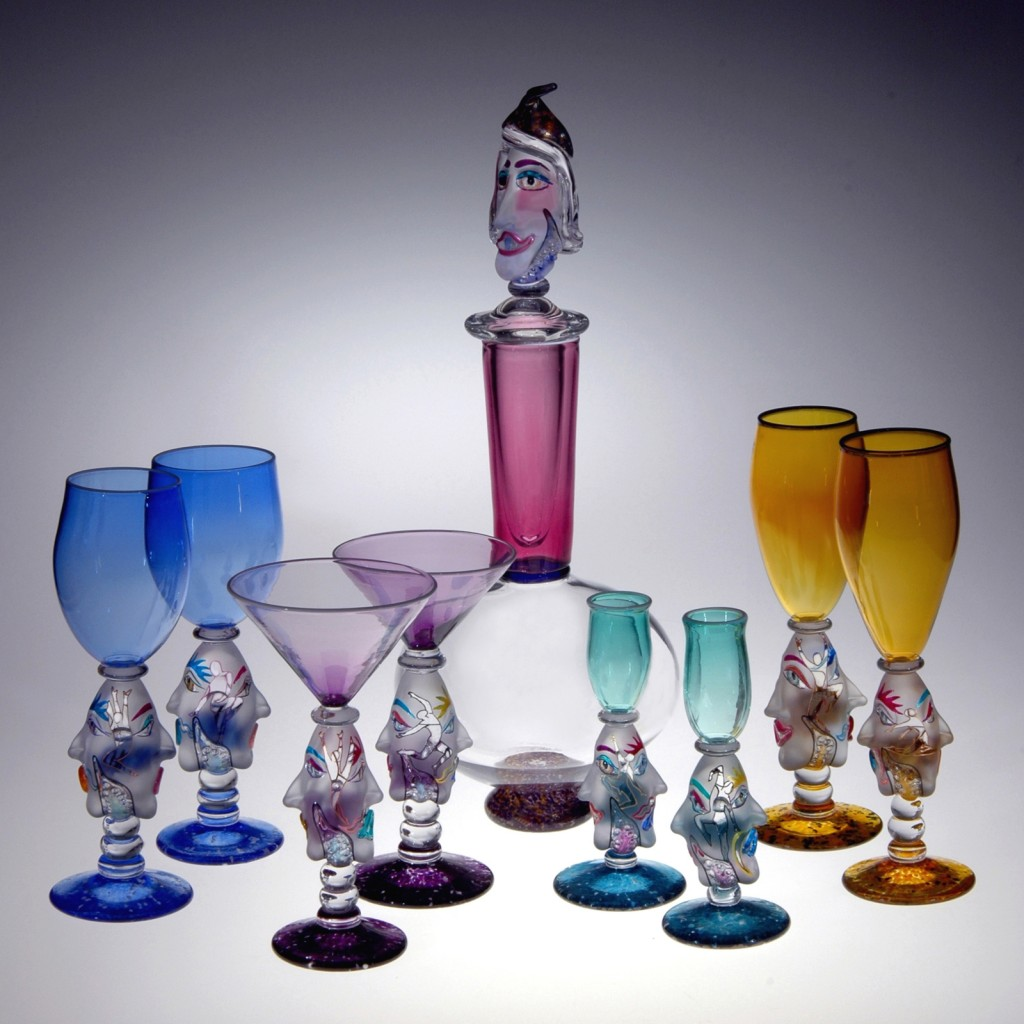 Decanter Set by Carlson Glassworks