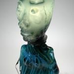 Marbleised Lamp by Carlson Glassworks