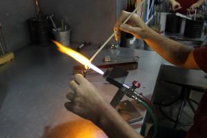 Jackie Brandow flameworking.