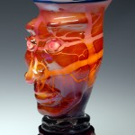 Red Lamp by Carlson Glassworks