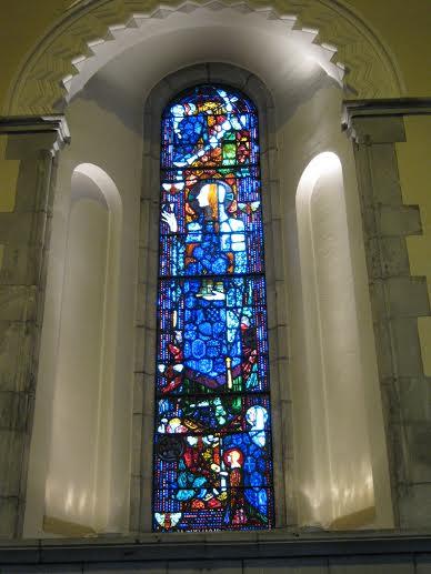 Clarke's St. Gobnait window at the Honan Chapel