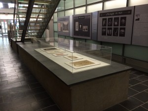 """""""Slab"""" Case, with new drawings installed. Rakow Library"""