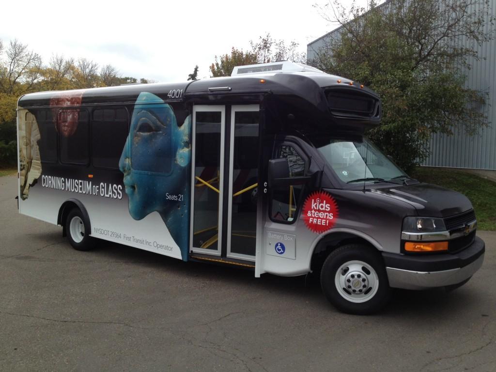Corning shuttle bus