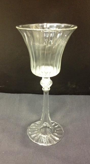 Borosilicate glass goblet