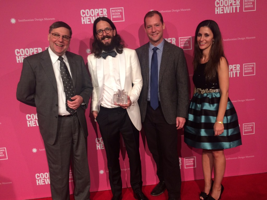 Design winners from Etsy with Steve Gibbs (left) and Eric Meek (second from right)