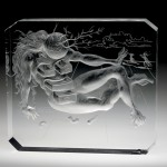 Drawing of Vase with Nude, Salvador Dali, Steuben Glass Inc., Corning, NY. 1939. Gift of the Design Department, Steuben Glass, A division of Corning Incorporated.