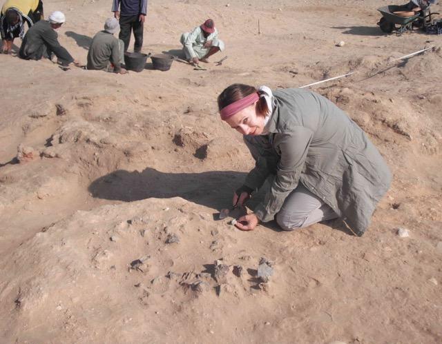 Anna Hodgkinson with kiln area