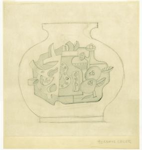 Drawer of vase by Leger. Collection of the Rakow Research Library.