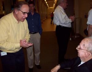 Dr. Glen Cook meets Dr. Stookey.
