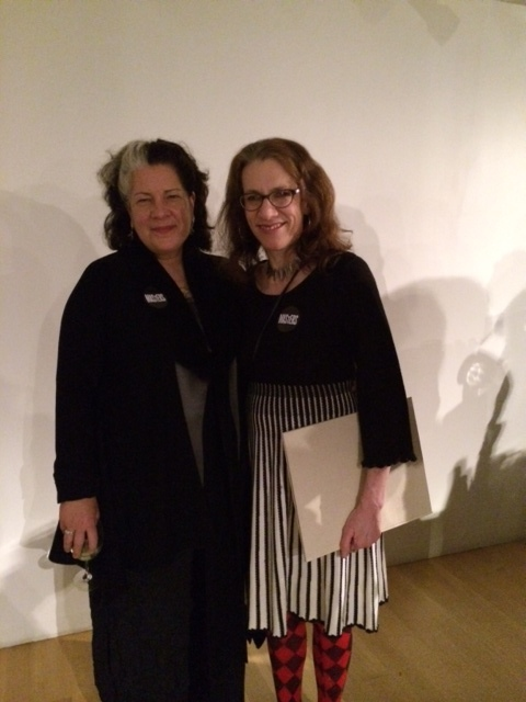 Tina and Judith Schaechter, a Philadelphia-based glass artist and fellow honoree.