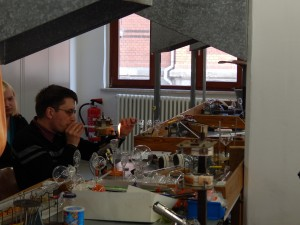 The first-year students at the glass school in Lauscha still begin their studies by learning the ornament tradition.
