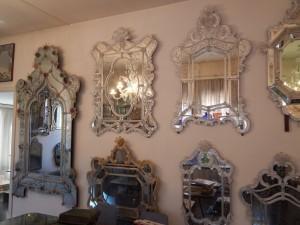Classical Venetian-style mirrors at SALIR