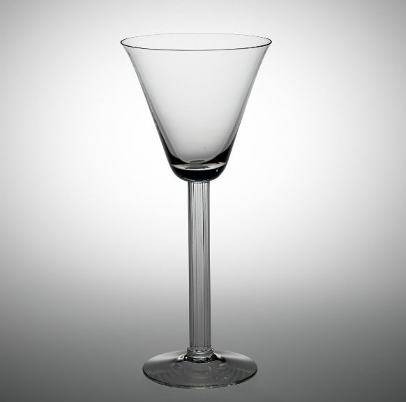 "Goblet in ""Monticello"" Pattern. Edwin W. Fuerst, Libbey Glass Company, Toledo, Ohio, 1940. Gift of Frederick Campbell Hovey. 2014.4.8."