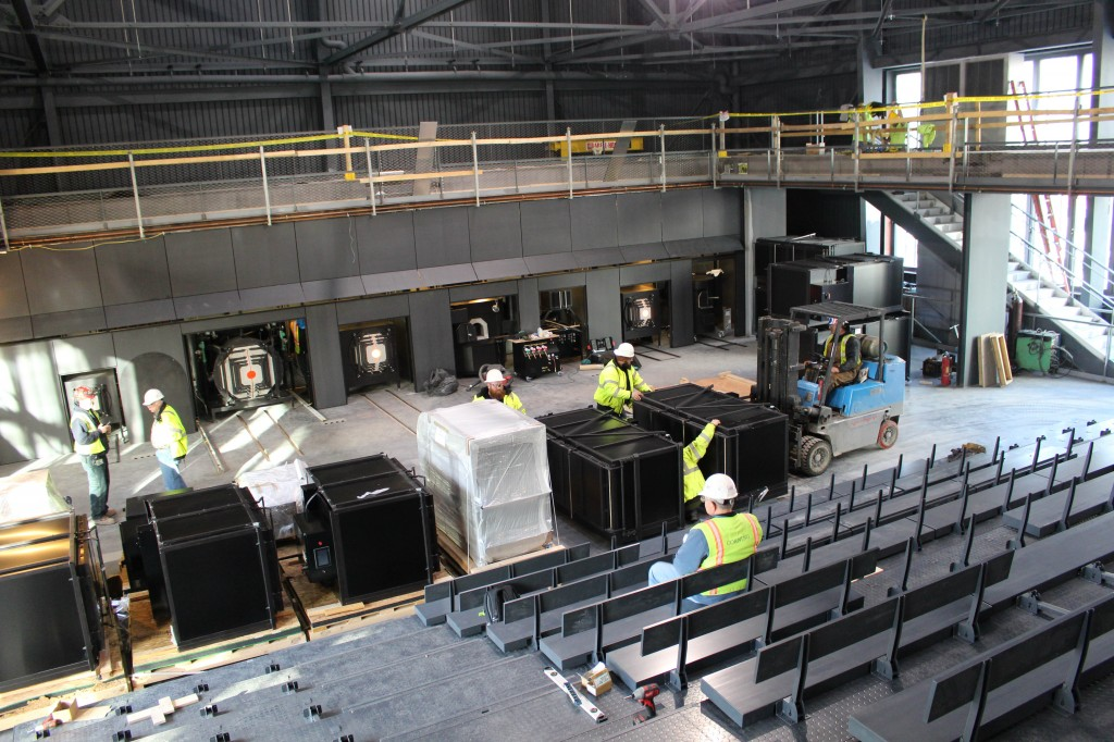 The Amphitheater Hotshop includes retractable seating and 360-degree balcony views.