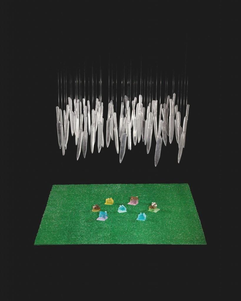 It's Raining Knives, Silvia Levenson, Vigevano, Italy, 1996 (reconfigured in 2004). 19th Rakow Commission. 2004.3.29.