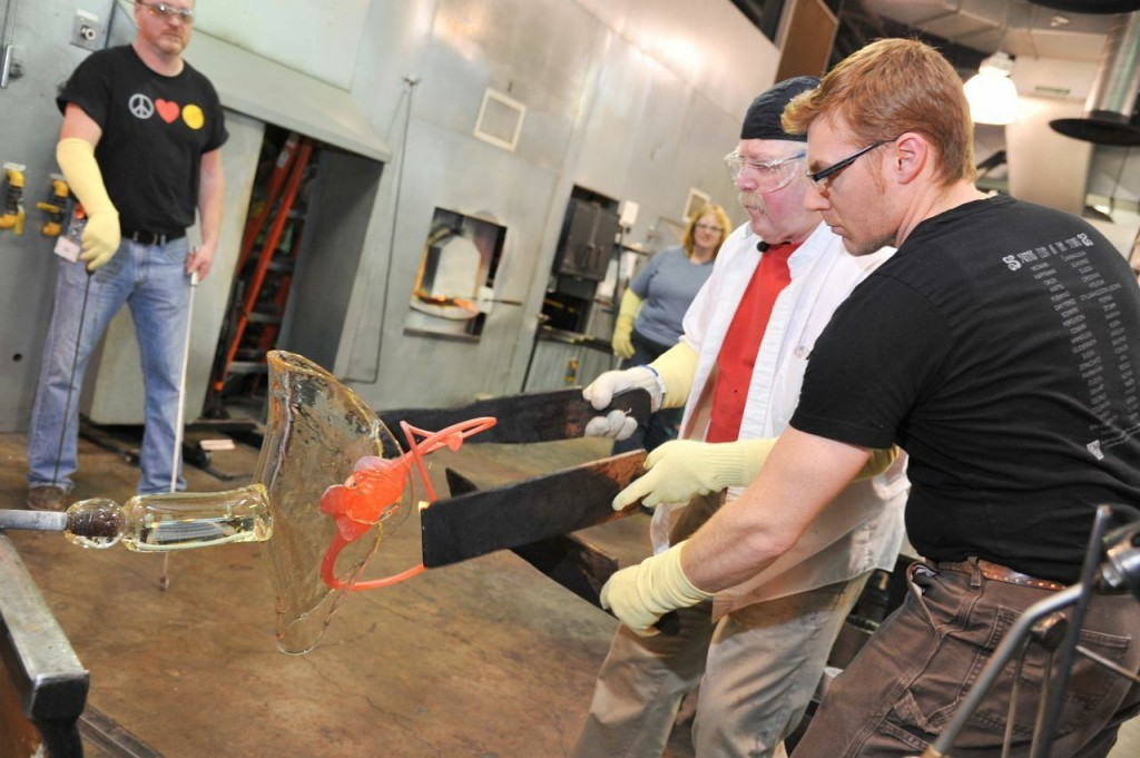 Albert Paley and CMoG staff at work in The Studio.
