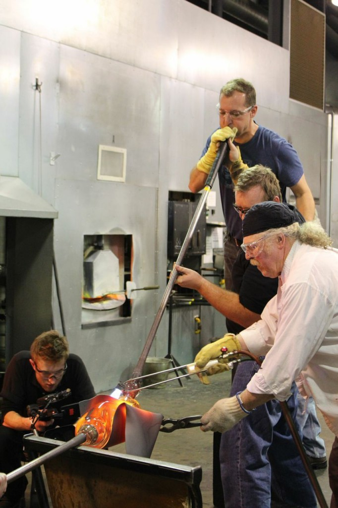 Albert Paley and team at work in The Studio in December.