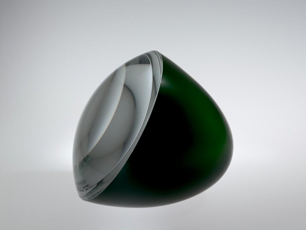 Half-Green Egg with Optical Lens, Václav Cigler, Prague and Sluknov, Czech Republic, 2009. 2010.3.7.