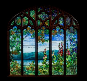Stained glass window from Rochroane Castle, Irvington-on-Hudson, NY, Louis Comfort Tiffany, Tiffany Studios, Corona, NY, 1905. 76.4.22.
