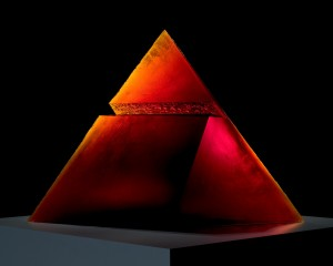 Red Pyramid, Stanislav Libenský and Jaroslava Brychtová, Czech Republic, Zelezny Brod, 1993. 94.3.101, gift of the artists.