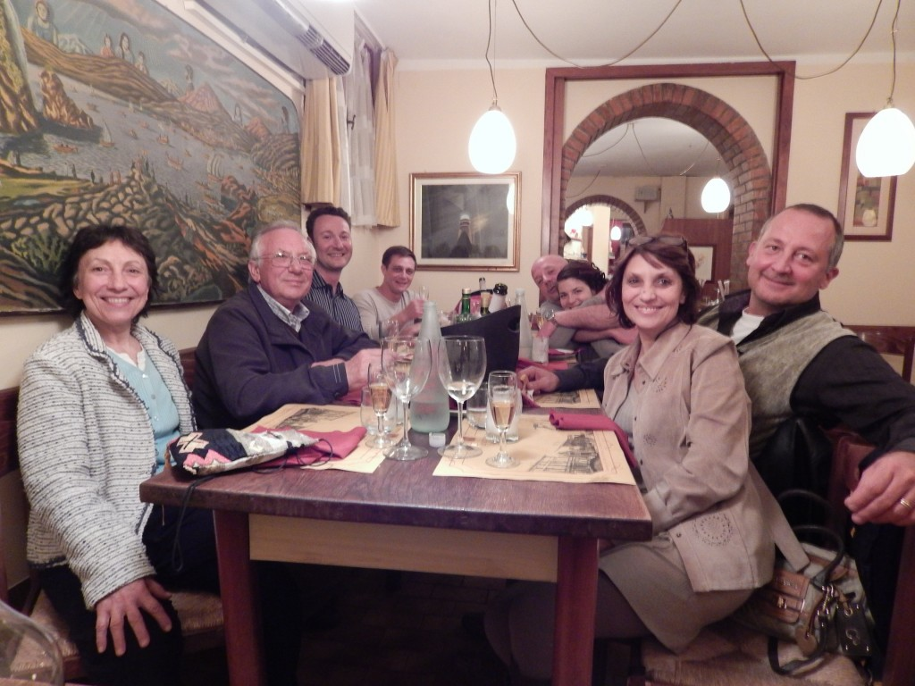 Clockwise from left: Graziella and Vittorio Costantini, me, Domenico Cavallaro, Igor Balbi, Agnese Costa, Teresa and Cesare Toffolo