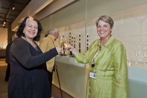Karol Wight with curator Tina Oldknow
