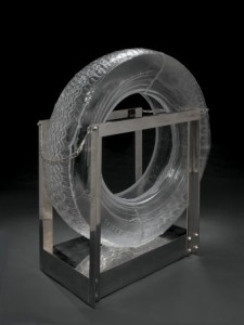 Tire, Robert Rauschenberg, designed 1995-1996 and made in 2005. Gift in part of Daniel Greenberg, Susan Steinhauser, and The Greenberg Foundation, and the F. M. Kirby Foundation, 2007.4.5.