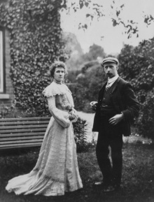 Frederick Carder and his wife Annie
