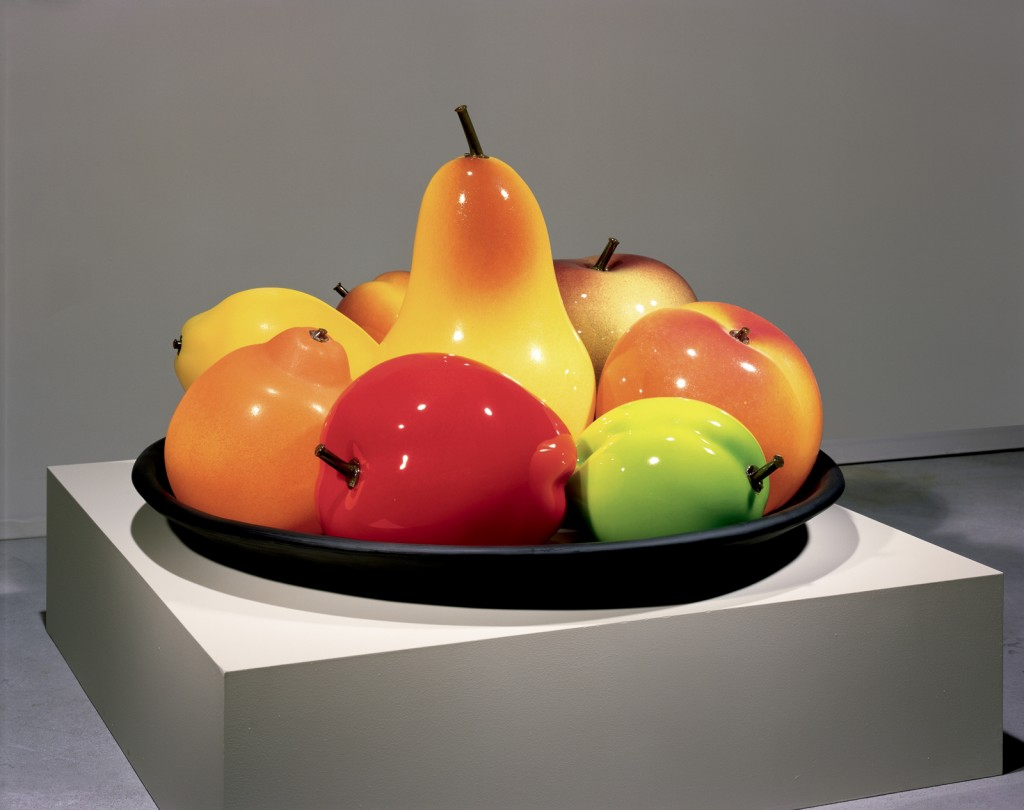 Still Life with Two Plums, Flora Mace and Joey Kirkpatrick, Seattle, WA, 2000. Gift in part of the artists. 2002.4.2.