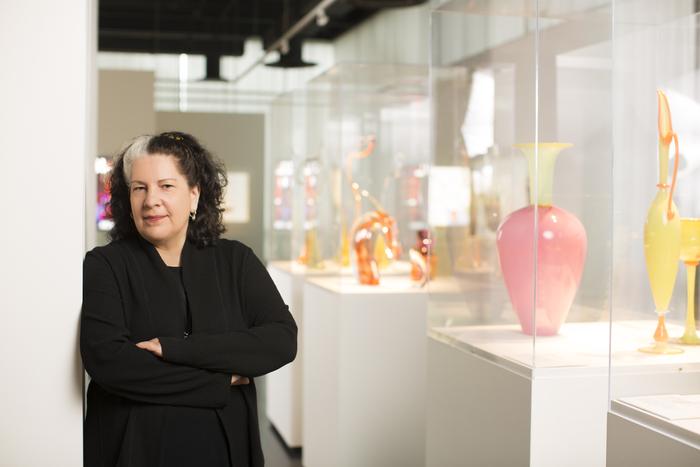 Curator Tina Oldknow
