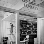 The original space for what is now the Rakow Research Library at The Corning Museum of Glass.