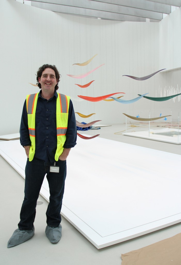 Collections and exhibitions manager, Warren Bunn