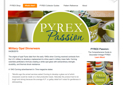 What's New? at Pyrex Passion