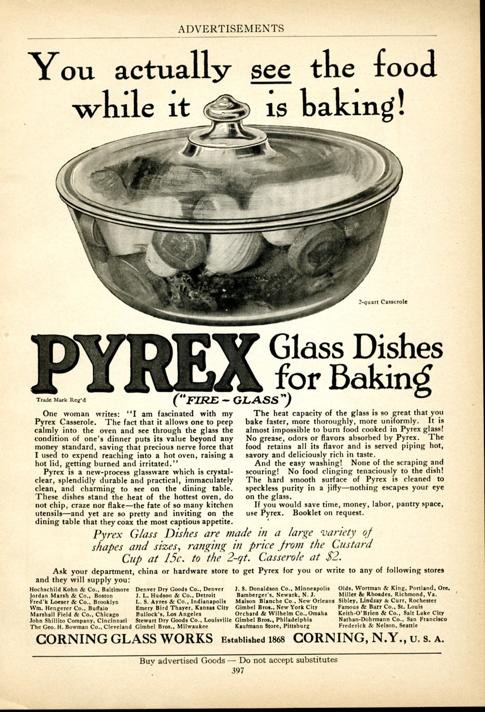 American Cookery, 1915. Corning Glass Works. CMGL 140296.