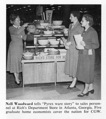 Home economist Nell Woodward trains local saleswomen