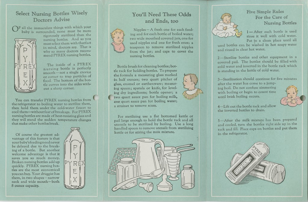 Promotional booklet for nursing bottles