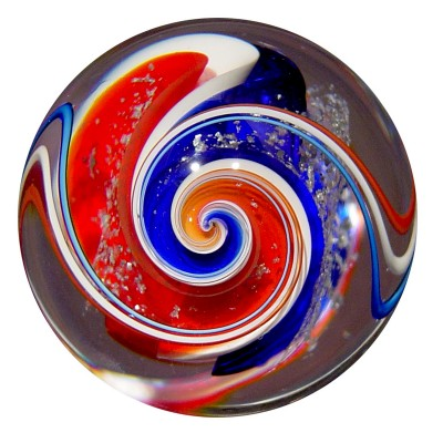 Patriot Divided Core Chevron Swirl with Silver Mica, Drew Fritts, Springfield, MO, 2006. Gift of the artist. 2006.4.106.
