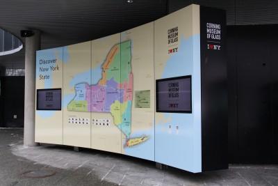 International Motor coach entrance