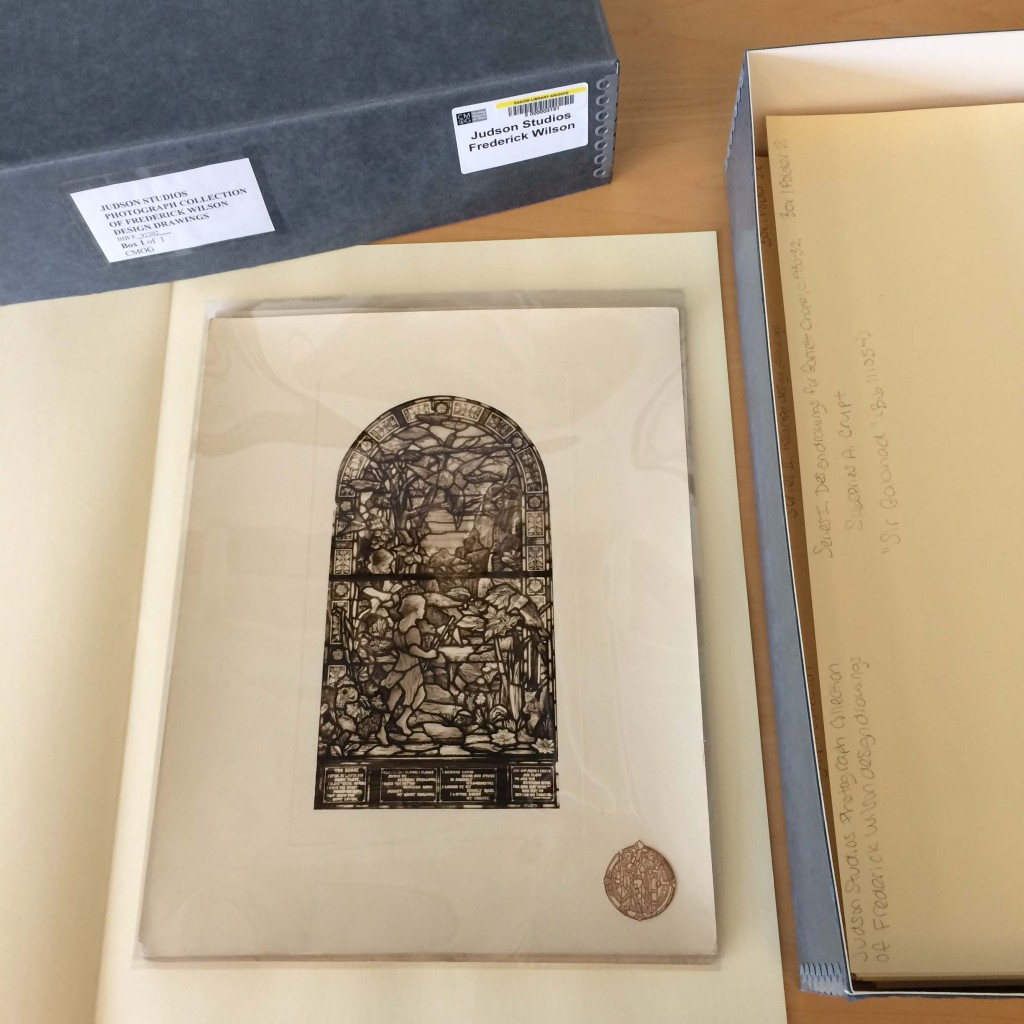 Example of an archival collection after it has been arranged by an archivist.