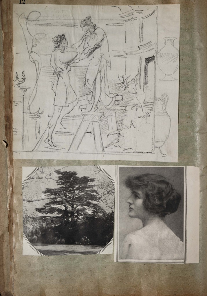 Page from Frederick Wilson's scrapbook, circa 1892-1932. CMGL 127947.