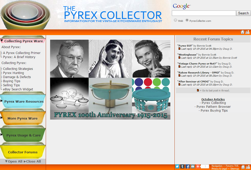 The Pyrex Collector