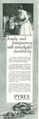 Corning Glass Works. Beauty and transparency with remarkable durability, April 1917, Ladies' Home Journal.