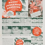"""See these Merry Pyrexmas bargains at your favorite store."" Advertisement from Corning Glass Works, published in Saturday Evening Post, December 9, 1939. CMGL 139997."