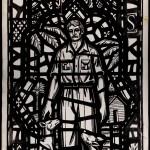 Photograph of Saint Agnes cartoon by Albert Schweitzer