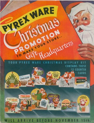 """Pyrex ware Christmas promotion: to make your store... gift headquarters."" Promotional booklet published by Corning Glass Works, 1944. Digital image was gift of World Kitchen LLC. CMGL 142569."